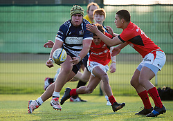 Will Capon (BGS) of Bristol Rugby Academy U18 passes the ball - Mandatory by-line: Paul Knight/JMP - 21/01/2017 - RUGBY - SGS Wise Campus - Bristol, England - Bristol Academy U18 v Saracens Academy U18 - Premiership Rugby Academy U18 League