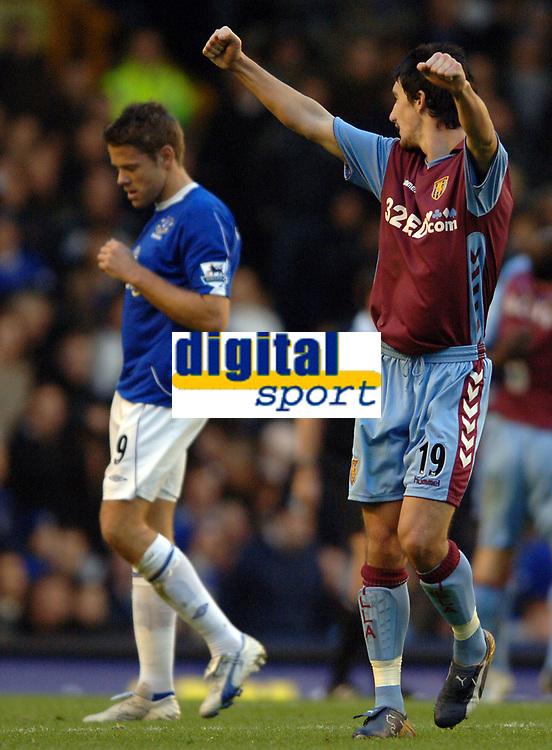Photo: Paul Greenwood.<br />Everton v Aston Villa. The Barclays Premiership. 11/11/2006. Villa player Liam Ridgewell celebrates Villas opening goal