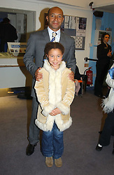 City figure DAMON BUFFINI and his daughter CLAUDIA BUFFINI at a performance by the London Childrens Ballet of 'The Little Princess' at The Peacock Theatre, Portugal Street, London WC2 on 19th May 2005.<br />