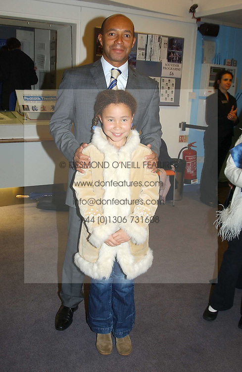 City figure DAMON BUFFINI and his daughter CLAUDIA BUFFINI at a performance by the London Childrens Ballet of 'The Little Princess' at The Peacock Theatre, Portugal Street, London WC2 on 19th May 2005.<br /><br />NON EXCLUSIVE - WORLD RIGHTS