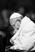 Rome mar 25th 2016, the pope celebrates traditional Via Crucis at Coliseum. In the picture Pope Francis