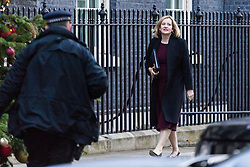 London, December 19 2017. Home Secretary Amber Rudd arrives at 10 Downing Street for the last cabinet meeting before the Christmas break. © Paul Davey