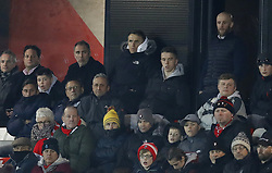 Salford City co-owner Phil Neville watches on during the Emirates FA Cup, first round replay match at the Peninsula Stadium, Salford.