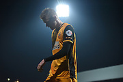 Goalscorer Sam Clucas under the floodlights during the Sky Bet Championship match between Brentford and Hull City at Griffin Park, London, England on 3 November 2015. Photo by Michael Hulf.