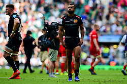 Tom O'Flaherty of Exeter Chiefs look dejected after the final whistle of the match - Mandatory by-line: Ryan Hiscott/JMP - 01/06/2019 - RUGBY - Twickenham Stadium - London, England - Exeter Chiefs v Saracens - Gallagher Premiership Rugby Final