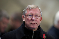MANCHESTER, ENGLAND - Wednesday, November 10, 2010: Manchester United manager Sir Alex Ferguson during the Premiership match at the City of Manchester Stadium. (Pic by: Chris Brunskill/Propaganda)