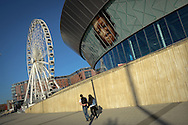 The Liverpool Arena and Conference Centre and the Wheel in Liverpool, Britain.