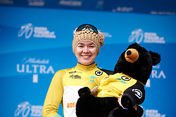 Anna van der Breggen (NED) retains the yellow jersey at Amgen Tour of California Women's Race empowered with SRAM 2019 - Stage 2, a 74 km road race from Ontario to Mount Baldy, United States on May 17, 2019. Photo by Sean Robinson/velofocus.com