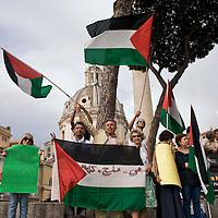 Manifestazione per la libertà dei prigionieri palestinesi in Israele