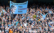 Manchester City celebrate winning the the Barclays Premier League at the Etihad Stadium, Manchester<br /> Picture by John Rainford/Focus Images Ltd +44 7506 538356<br /> 11/05/2014