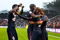 Joie Diego Rolan / groupe Bordeaux - 15.03.2015 - Bordeaux / Paris Saint Germain - 29e journee Ligue 1<br /> Photo : Manuel Blondeau / Icon Sport