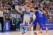 DESCRIZIONE : Beko Legabasket Serie A 2015- 2016 Dinamo Banco di Sardegna Sassari - Enel Brindisi<br /> GIOCATORE : Rok Stipcevic<br /> CATEGORIA : Tiro Tre Punti Three Point<br /> SQUADRA : Dinamo Banco di Sardegna Sassari<br /> EVENTO : Beko Legabasket Serie A 2015-2016<br /> GARA : Dinamo Banco di Sardegna Sassari - Enel Brindisi<br /> DATA : 18/10/2015<br /> SPORT : Pallacanestro <br /> AUTORE : Agenzia Ciamillo-Castoria/C.Atzori