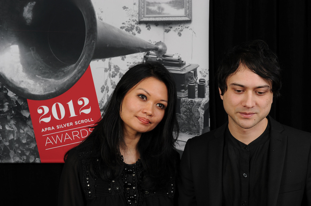 Bic Runga and Kody Neilson at the APRA Silver Scrolls Awards 2012. Auckland Town Hall. 13 September 2012.