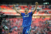 Frank Lampard of Chelsea celebrates victory at the end of the match
