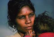 Young mother, Delhi, India.