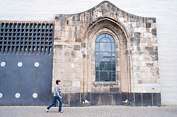 Exterior of modern Kolumba religious museum in central Cologne Germany