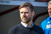 Graham Alexander (manager) (Scunthorpe United) during the Sky Bet League 1 match between Barnsley and Scunthorpe United at Oakwell, Barnsley, England on 25 March 2016. Photo by Mark P Doherty.