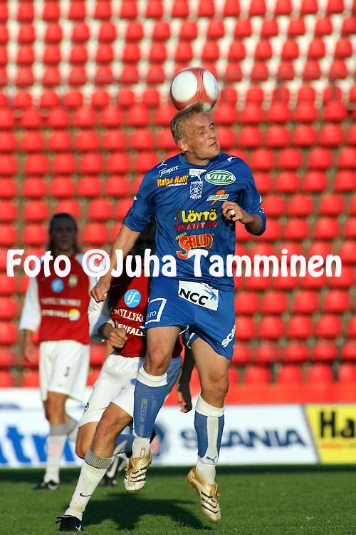 05.08.2006, Ratina, Tampere, Finland..Veikkausliiga 2006 - Finnish League 2006.Tampere United - Myllykosken Pallo-47.Jarkko Wiss - TamU.©Juha Tamminen.....ARK:k