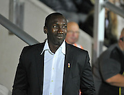 Manager of QPR Jimmy Floyd Hasselbaink during the EFL Sky Bet Championship match between Burton Albion and Queens Park Rangers at the Pirelli Stadium, Burton upon Trent, England on 27 September 2016. Photo by Richard Holmes.