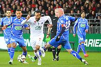 Youssef ADNANE - 05.03.2015 - Brest / Auxerre - 1/4Finale Coupe de France<br />Photo : Maxime Kerriou / Icon Sport