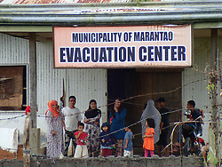 July 3, 2017 - Marantao, Philippines - Eighteen families who were from Marawi City and displaced by the insurgency found temporary shelter at the old municipal hall of Marantao town. (Credit Image: © Sherbien Dacalanio/Pacific Press via ZUMA Wire)