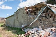 Accumuli, 13/04/2017: il cimitero danneggiato dal terremoto.<br /> &copy; Andrea Sabbadini