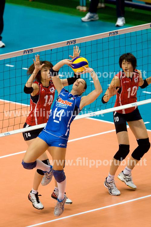ELEONORA LO BIANCO IN PALLEGGIO.ITALIA - KOREA.WORLD GRAND CHAMPIONS CUP FEMMINILE 2009.TOKYO (JPN) 11-11-2009.FOTO GALBIATI - RUBIN