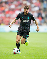 Football - 2019 / 2020 pre-season friendly - Liverpool vs. Napoli<br /> <br /> James Milner of Liverpool in action, at Murrayfield, Edinburgh.<br /> <br /> COLORSPORT/BRUCE WHITE