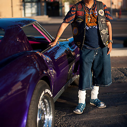 Paul Talamante and his 1975 Purple Corvette Stingray