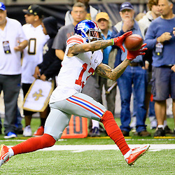 Nov 1, 2015; New Orleans, LA, USA;  New York Giants wide receiver Odell Beckham (13) before a game against the New Orleans Saints at the Mercedes-Benz Superdome. Mandatory Credit: Derick E. Hingle-USA TODAY Sports