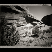 Black and White pinhole photography of Canyon Dechelle and Monument Valley in the American west.