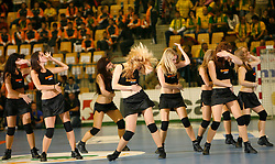 Dancers at handball game RK Celje Pivovarna Lasko  - SC Magdeburg in the semifinal of EHF 2007 Men`s Champions Trophy, on October 20, 2007 in Zlatorog Hall, Celje, Slovenia.   (Photo by Vid Ponikvar / Sportal Images).