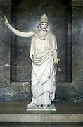 Pallas Athena (Minerva) goddess of wisdom, daughter of Zeus (Jupiter) Marble statue.
