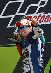 17.05.2015, Circuit, Le Mans, FRA, MotoGP, Grand Prix von Frankreich, im Bild 99 Jorge Lorenzo / Spanien, Siegerehrung der Sieger // during the MotoGP Monster Energy France Grand Prix at the Circuit in Le Mans, France on 2015/05/17. EXPA Pictures © 2015, PhotoCredit: EXPA/ Eibner-Pressefoto/ Stiefel<br /> <br /> *****ATTENTION - OUT of GER*****