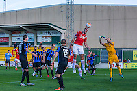 ESTEPONA - 07-01-2016, AZ in Spanje 7 januari, Club Brugge, 2-2,AZ speler Ron Vlaar kopt de 0-1 binnen, doelpunt.