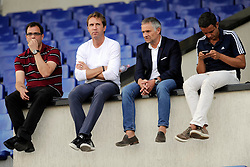 20.08.2013, Sofia, BUL, UEFA CL Play off, FC Basel, Training, im Bild, Georg Heitz, Adrian Knup, Ruedi Zbinden und Praesident Bernhard Heusler // during the UEFA Champions League Trainings Match of FC Basel in Sofia, Bulgaria on 2013/08/20. EXPA Pictures © 2013, PhotoCredit: EXPA/ Freshfocus/ Andy Mueller<br /> <br /> ***** ATTENTION - for AUT, SLO, CRO, SRB, BIH only *****