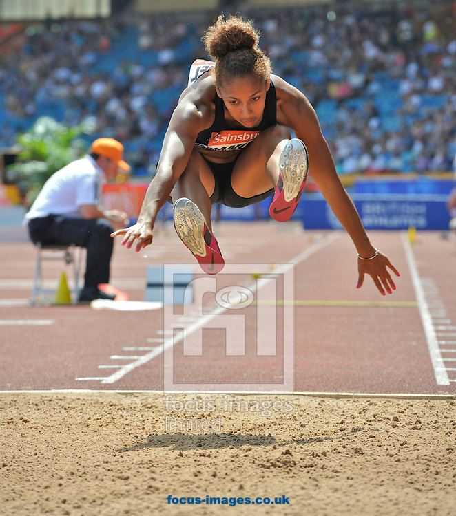 Picture by Alan Stanford/Focus Images Ltd +44 7915 056117<br /> 12/07/2013<br /> Laura Samuel (GBR) Triple jump pictured during day two of Sainsbury's British Championship at Alexander Stadium, Birmingham.