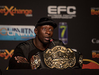 JOHANNESBURG, SOUTH AFRICA - MAY 13: Yannick Bahati during EFC 49 Fight Night at the Big Top Arena, Carnival City, Johannesburg, South Africa on May 13, 2016. (Photo by Anton Geyser/ EFC Worldwide)
