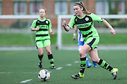 Forest Green's Samantha Hallsworth during the FA Women's Premier League match between Forest Green Rovers Ladies and Brighton Ladies at the Hartpury College, United Kingdom on 24 January 2016. Photo by Shane Healey.
