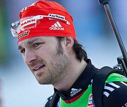 16.01.2011, Chiemgau Arena, Ruhpolding, GER, IBU Biathlon Worldcup, Ruhpolding, Pursuit Men, im Bild Alexander Wolf (GER) // Alexander Wolf (GER) during IBU Biathlon World Cup in Ruhpolding, Germany, EXPA Pictures © 2011, PhotoCredit: EXPA/ J. Feichter