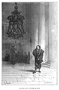 Galileo observing the swaying of the chandelier in Pisa Cathedral, c1584.   Galileo Galilei (1564-1642) Italian astronomer, mathematician and physicist used this observation in his work which led to his discovery of the isochronism of the pendulum and eventually, through Huyghens, to development of the pendulum clock. From 'Vies des Savants Illustres',  Louis Figuier, (Paris, 1870).
