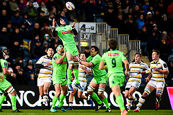 Ben Mowen of Pau catches the aerial ball - Mandatory by-line: Ryan Hiscott/JMP - 15/12/2018 - RUGBY - Sixways Stadium - Worcester, England - Worcester Warriors v Pau - European Rugby Challenge Cup