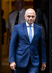 © Licensed to London News Pictures. 30/04/2018. London, UK. SAJID JAVID seen leaving 10 Downing Street on April 30th, 2018 after his appointment as Home Secretary following the resignation of Amber Rudd. Photo credit: Rob Pinney/LNP