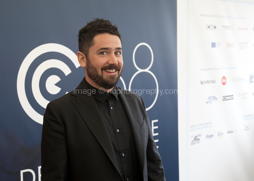 Director Lorcan Finnegan at the Vivarium film World Premiere as part of Cannes Critics Week, Saturday 18th May 2019, Espace Miramar, Cannes, France. Photo credit: Doreen Kennedy