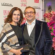 NLD/Amsterdam/20160118 -  Beau Monde Awards 2016, Liz Snoijink en Jon van Eerd