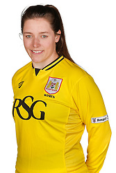 Caitlin Leach of Bristol City Women poses for a headshot - Mandatory byline: Rogan Thomson/JMP - 21/02/2016 - FOOTBALL - Stoke Gifford Stadium - Bristol, England - Bristol City Women Team Photos.