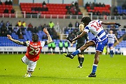 Goal Reading midfielder Ovie Ejaria (14) scores a goal 2-0 during the EFL Sky Bet Championship match between Reading and Luton Town at the Madejski Stadium, Reading, England on 9 November 2019.