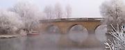 The Toll Bridge near Eynsham on a cold frosty morning