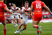 Bradford Bulls replacement Brandon Wilkinson (21) in action  during the Kingstone Press Championship match between Sheffield Eagles and Bradford Bulls at, The Beaumont Legal Stadium, Wakefield, United Kingdom on 3 September 2017. Photo by Simon Davies.