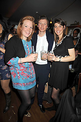 Left to right, VICTORIA INSKIP, PETER ROBINSON and AMANDA DERBYSHIRE at a party for Glenmorangie hosted at Barts,  Sloane Avenue, London on 26th March 2009.